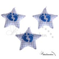 Stoffstern Füßchen babyblau