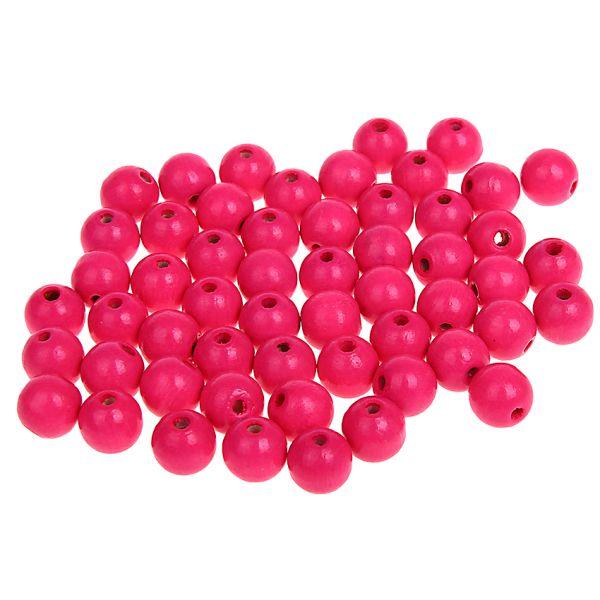 Holzperlen neon-pink 8 mm