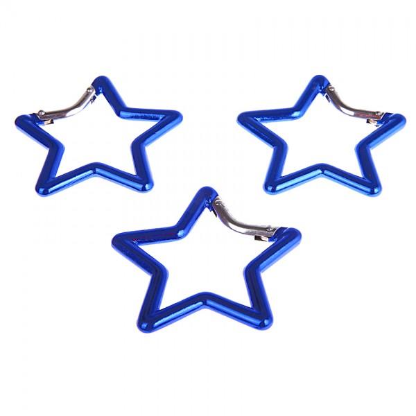 Karabiner Stern blau