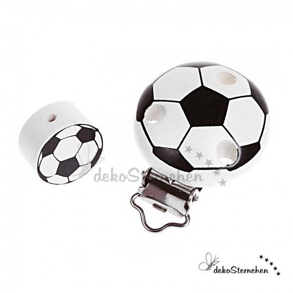 Motivperle und Clip im Set Fußball