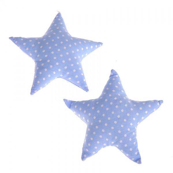 Stoffstern babyblau Rassel