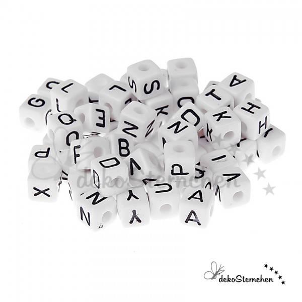 Buchstabenwürfel Kunststoff weiß 160 Stück gemischt