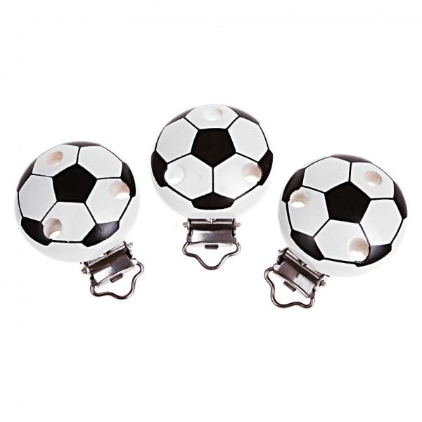 Schnullerkettenclip Fußball