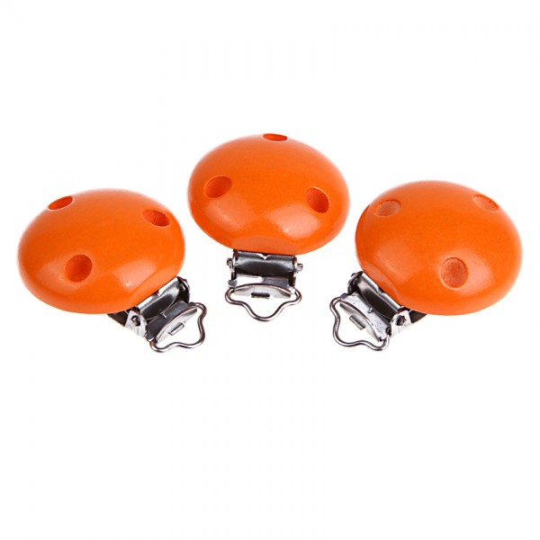 Schnullerkettenclip orange 50 Stück