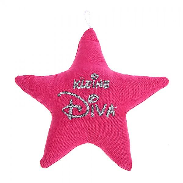 Stoffstern pink Kleine Diva