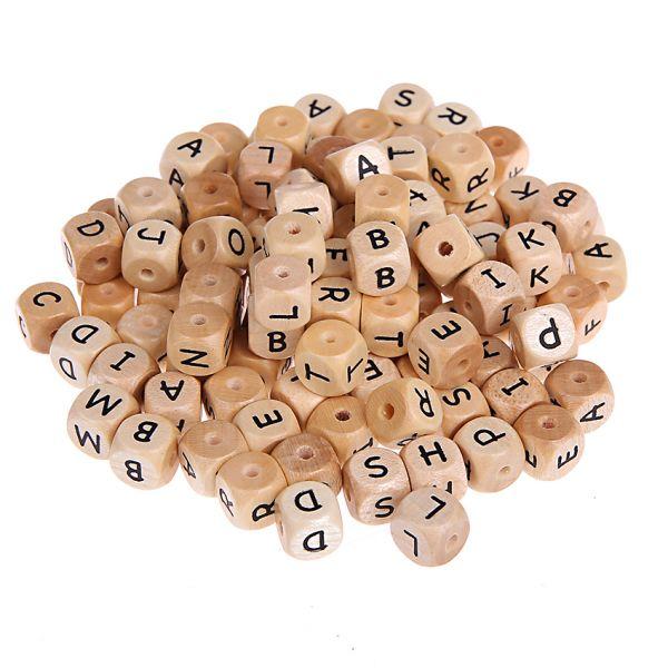 Buchstabenwürfel natur