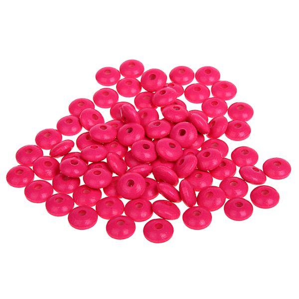 Holzlinsen neon-pink 10 mm