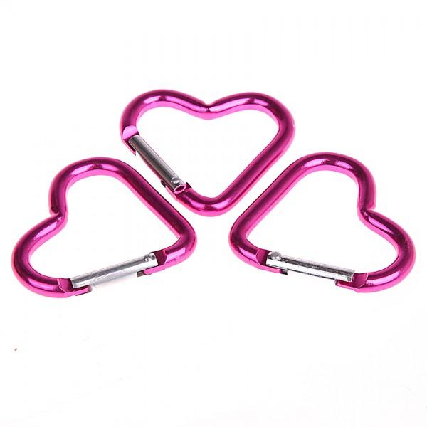 Karabiner Herz pink