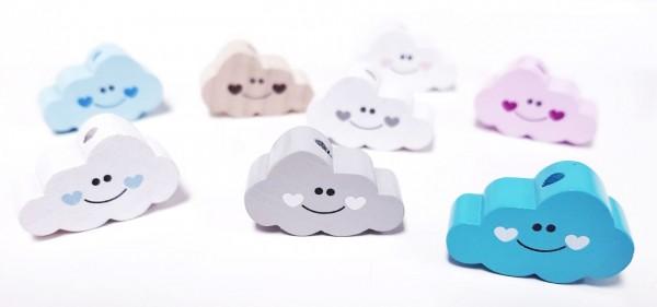 Motivperle Wolke mit Gesicht