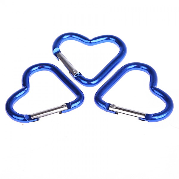 Karabiner Herz blau