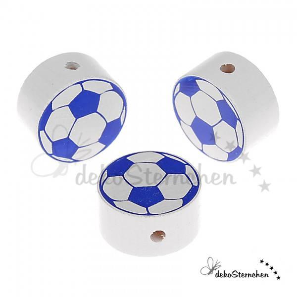 Motivperle Fußball blau