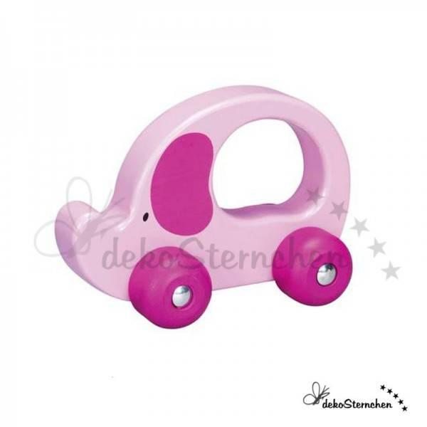 Greifling Auto Elefant rosa
