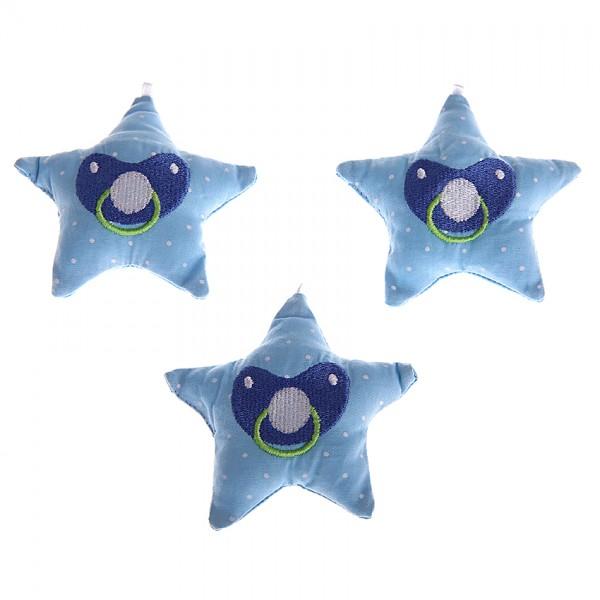 Stoffstern Schnuller blau