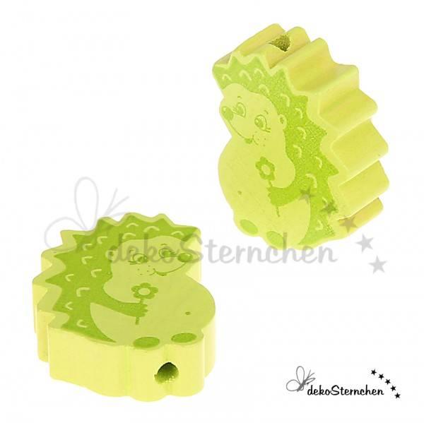 Motivperle Igel lemon/gelbgrün