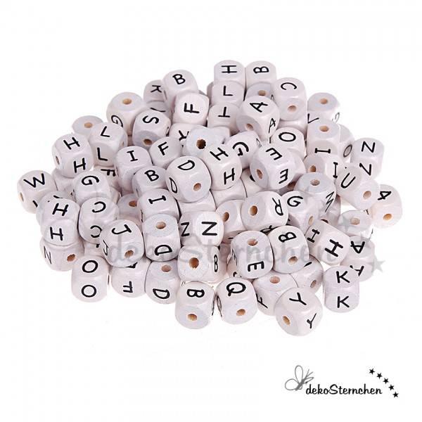 Buchstabenwürfel weiß