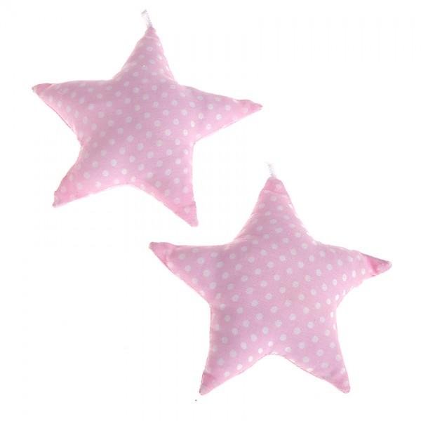 Stoffstern rosa Qietscher