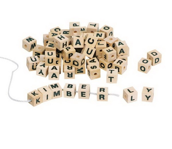 Buchstabenwürfel 7X7 mm 300 Stück
