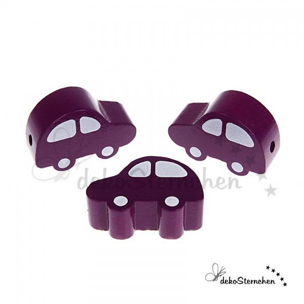 Motivperle Auto purpur