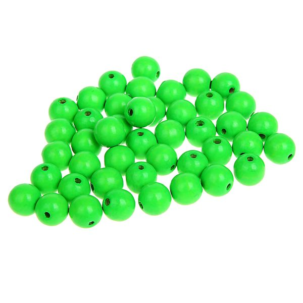 Holzperlen neon-grün 8 mm