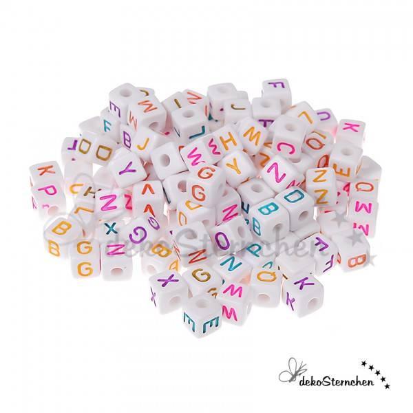 Buchstabenwürfel Kunststoff bunt 80 Stück gemischt