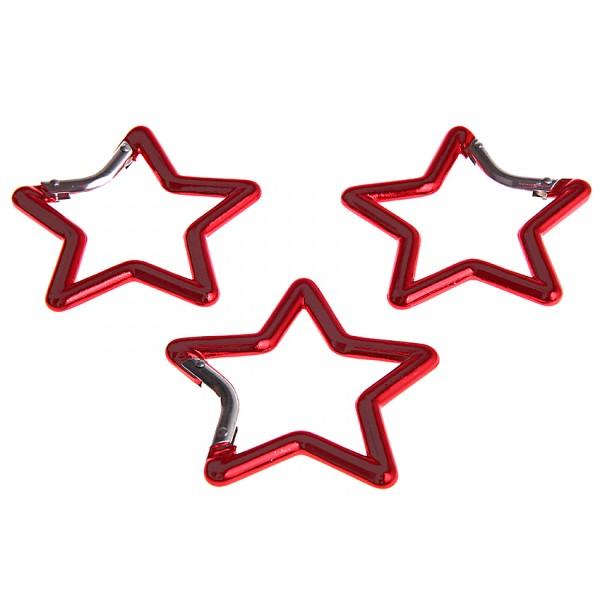 Karabiner Stern rot